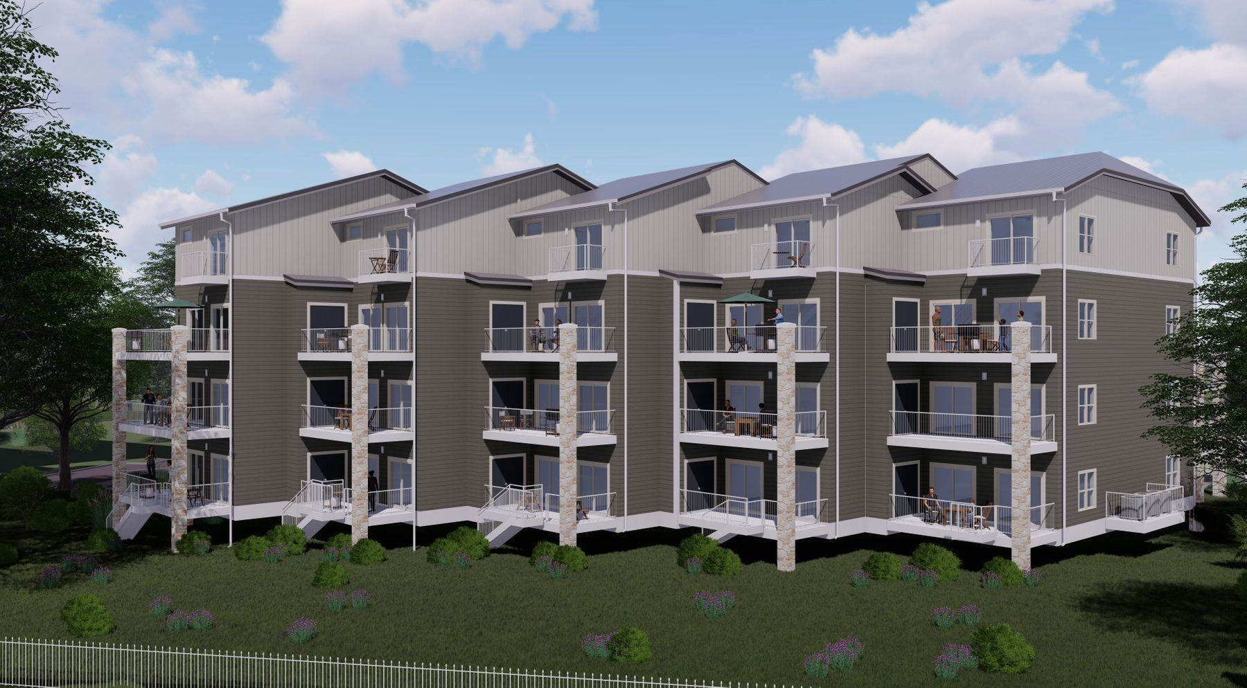 Condominiums for Sale at Premier River-Front Condos on the Guadalupe Rapids 1228 Ervendberg Avenue, Unit 301 New Braunfels, Texas 78130 United States