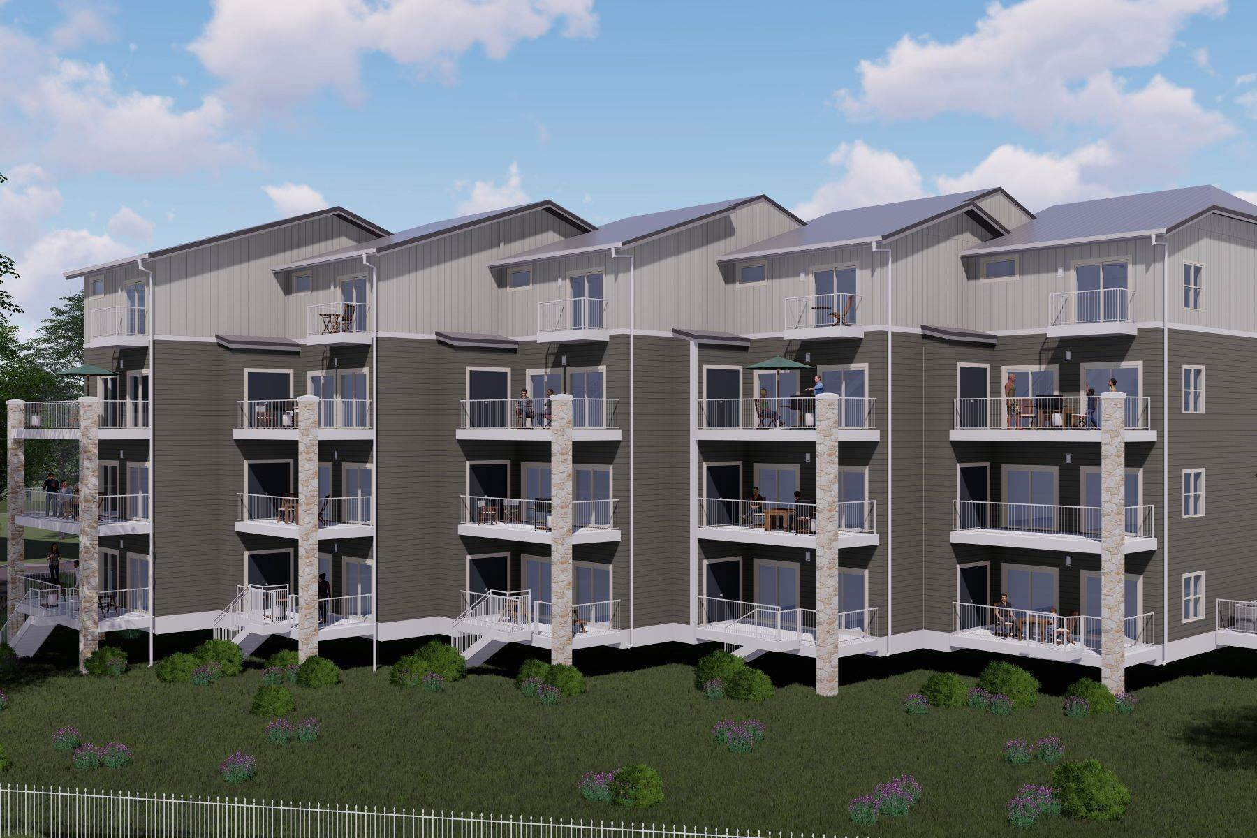 Condominiums for Sale at Premier River-Front Condos on the Guadalupe Rapids 1228 Ervendberg Avenue, Unit 101 New Braunfels, Texas 78130 United States