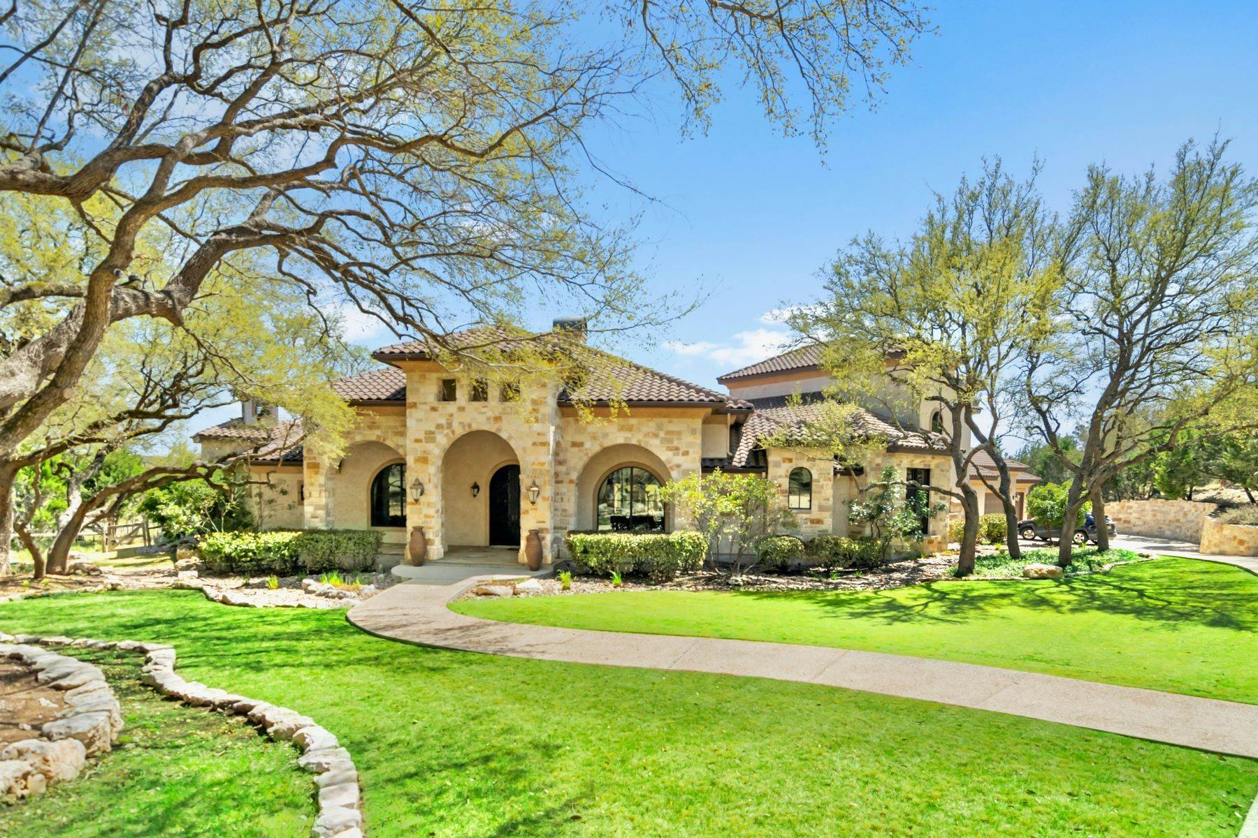 Single Family Homes for Sale at Exquisite Tuscan Style Family Home 153 Riverwood Boerne, Texas 78006 United States
